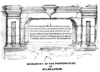 Monument of the Porterfields at Kilmacolm, Renfrewshire