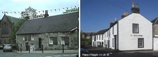 Weaver's Cottage, Kilbarchan (left) and Sma' Shot Cottages, Paisley (right)